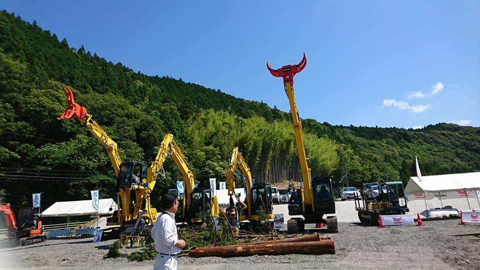 林業機械展@徳島 林業機械も「木づかい」に向けて進化中!